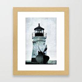 Vermillion Lighthouse Framed Art Print