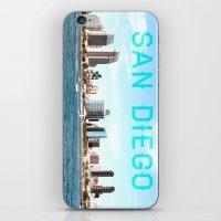 san diego iPhone & iPod Skins featuring San Diego  by Natasha Alexandra Englehardt