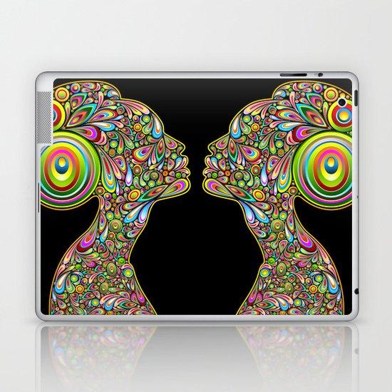 Woman Psychedelic Art Design Portrait Laptop & iPad Skin