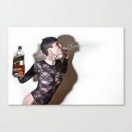 Girls & Whiskey  Canvas Print