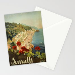 Vintage Travel Ad Amalfi Italy Stationery Cards