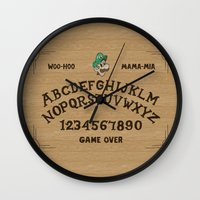 luigi Wall Clocks featuring LUIGI BOARD by Josh LaFayette