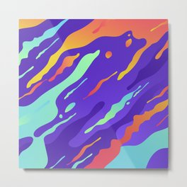 Abstract camouflage for modern home decoration Metal Print