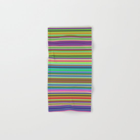 Summer Stripes – Clock 2 - Living Hell Hand & Bath Towel