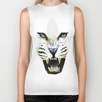 cheetah Biker Tanks featuring Cheetah  by Tetevi Teteh