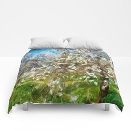 Almond Orchard Blossom Comforters