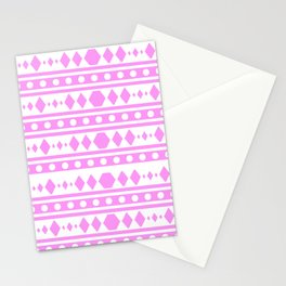Pink Pattern Tribal Stationery Cards