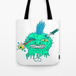 Punk Head Tote Bag