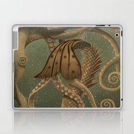 """""""Mermaid & Octopus No. 4"""" by David Delamare (No Border) Laptop & iPad Skin"""