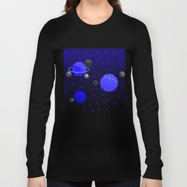Spacey - Blue Long Sleeve T-shirt