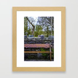 Cemetery Bench Framed Art Print