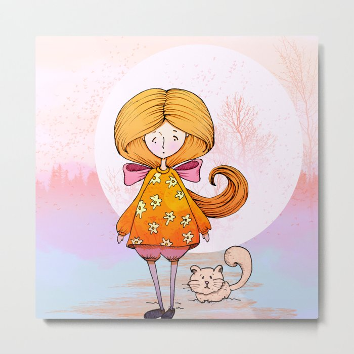Little Princess Metal Print