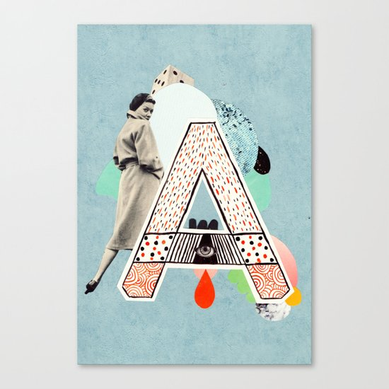 """a to z - """"A"""" Canvas Print"""