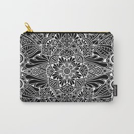 Inverted Pastel Mandala Carry-All Pouch