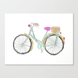 My new bike - digital watercolor bike art Canvas Print