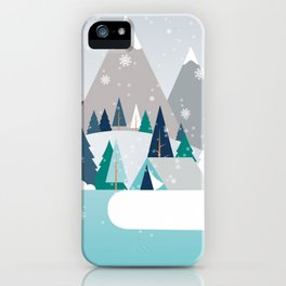 Camping - first snow fall iPhone Case