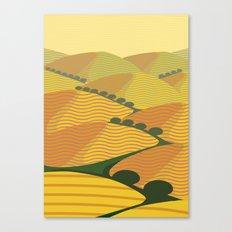 Baja California Coastal Hills Canvas Print