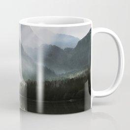 Dreamlike Morning at the Lake - Nature Forest Mountain Photography Coffee Mug