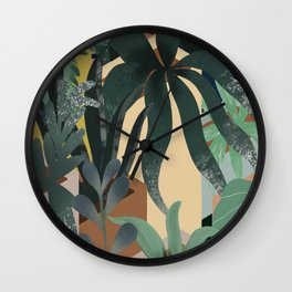 Isometric Flower Pots Wall Clock
