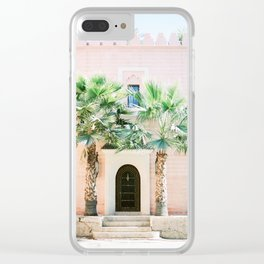 """Travel photography print """"Magical Marrakech"""" photo art made in Morocco. Pastel colored. Clear iPhone Case"""