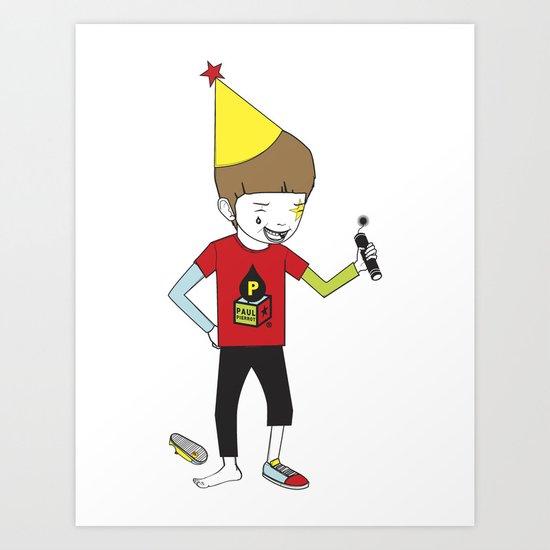 PAUL CRACKER BOY Art Print