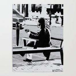 Busking - Guitar Player Poster