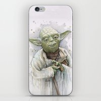 yoda iPhone & iPod Skins featuring Yoda  by Olechka