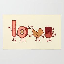 Meat Love U Rug