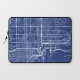 Tampa Map, USA - Blue Laptop Sleeve