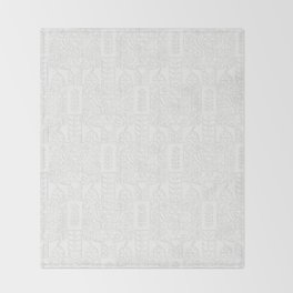 Swedish Folk Art - Subtle Throw Blanket