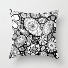Stone doodle Throw Pillow
