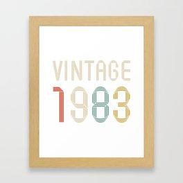 Vintage 1983 Framed Art Print