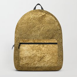 Golden texture background. Vintage gold. Backpack