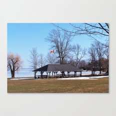 Shelter by the Lake Canvas Print