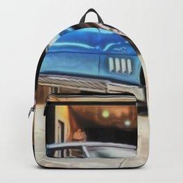 Vintage 1969 Ocean blue 427 Stingray Vette Big Block Backpack