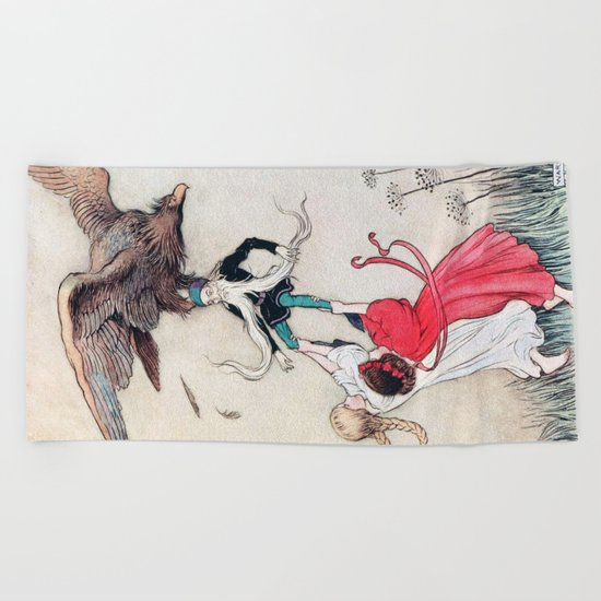 Compassionate Children Illustration Beach Towel