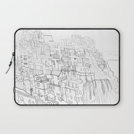 City drawing italian coloring page style Laptop Sleeve