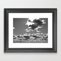 marshmallow sky Framed Art Print