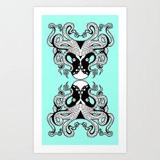 Octopus Mirrored Art Print