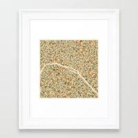 paris map Framed Art Prints featuring PARIS MAP by Jazzberry Blue
