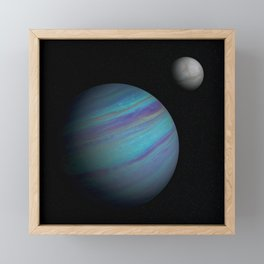 Kepler 421b, An Ice Giant Framed Mini Art Print