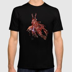 Spotfin Lionfish 2 Black Mens Fitted Tee MEDIUM