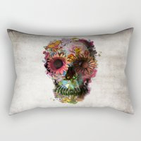 2001 Rectangular Pillows featuring SKULL 2 by Ali GULEC
