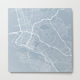 Oakland Map, USA - Slate Metal Print