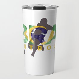 2018 Soccer Cup Brazil Flag BRA Championship Kick Travel Mug