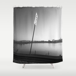 Pollution Permitted B&W Shower Curtain