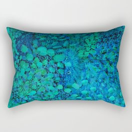Peacock Watercolor Painting Rectangular Pillow