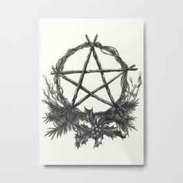Yule Blessings Metal Print