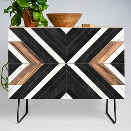 Urban Tribal Pattern No.1 - Concrete and Wood Credenza
