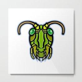 Grasshopper Head Mascot Metal Print